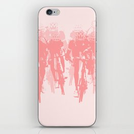 Cyclists in the sprint pink iPhone Skin
