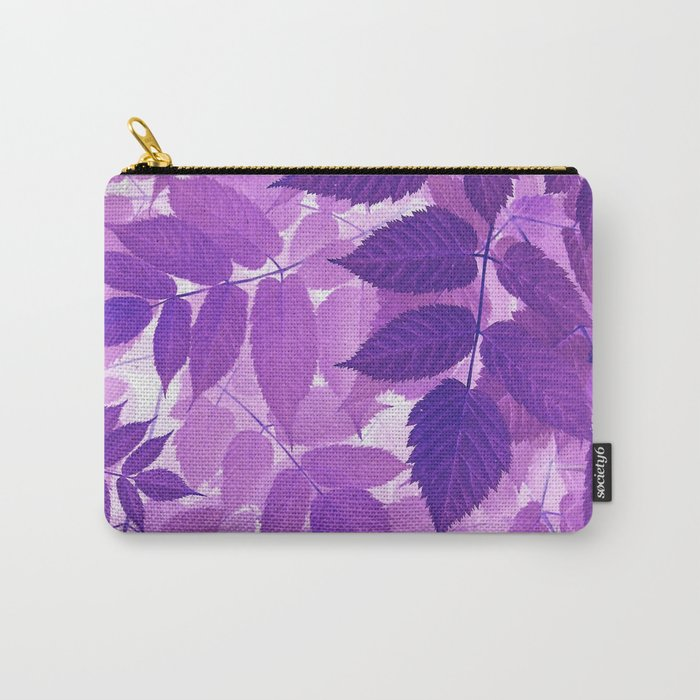 Ultra Violet Purple Leaves Carry-All Pouch