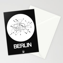 Berlin White Subway Map Stationery Cards