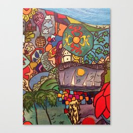 Life de colores Canvas Print