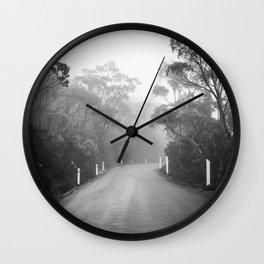 Mount Wellington Misty Road Wall Clock