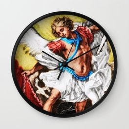 """Archangel Mondays"" Painting by Jeanpaul Ferro Wall Clock"