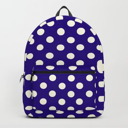 Polka Dot Party in Blue and White Backpack