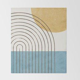 Sunny ocean Throw Blanket