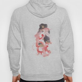 Watercolor Pink Black Flow | [dec-connect] 17. stand up Hoody