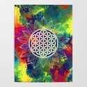Flower Of Life (Lively World) by patternsoflife