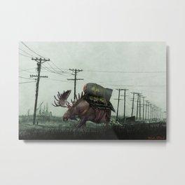 Fallout - Strategic Nuclear Moose Metal Print