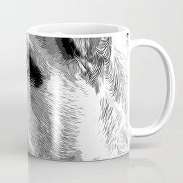 english bulldog dog vector art black white Coffee Mug