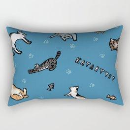 Cat yoga Rectangular Pillow