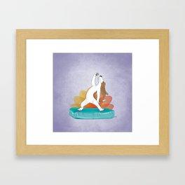 Basset Hound Peaceful Warrior Framed Art Print