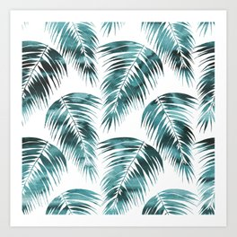 Maui Palm Leaf 2 green Art Print