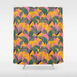 Retro Luxe Lilies Pattern Shower Curtain