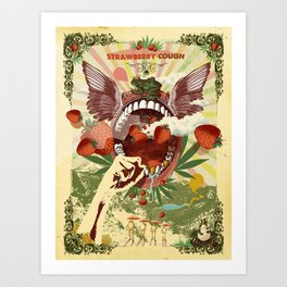 STRAWBERRY COUGH Art Print