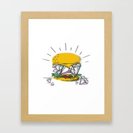 Diamond Burger - Hamburger Pop Art Print - White Framed Art Print