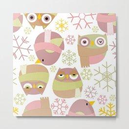 Owl pattern for textiles Metal Print