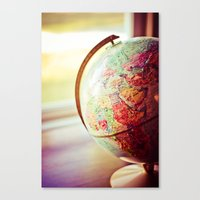 globe Canvas Prints featuring Globe  by Jo Bekah Photography