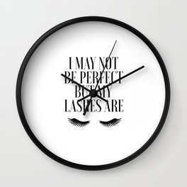 PERFECT LASHES QUOTE, Fashion Print, Lashes Decor,Bathroom Decor,Gift For Her,Makeup Quote,Salon Dec Wall Clock