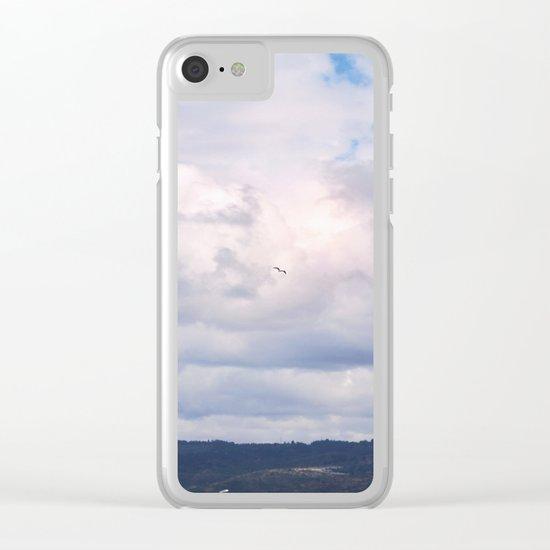 Pastel vibes 41 - El vuelo Clear iPhone Case