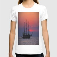 sailing T-shirts featuring sailing by Claudia Otte ArtOfPictures