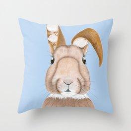 Wisteria Rabbit Throw Pillow