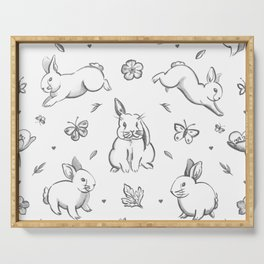 Bunnies, Buttercups & Butterflies Serving Tray