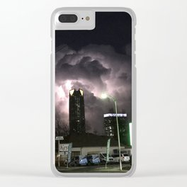 Lightning Over Oklahoma City Clear iPhone Case