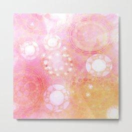 Circles Sunset Metal Print