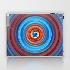 Vivid Blue and Orange Swirl Laptop & iPad Skin