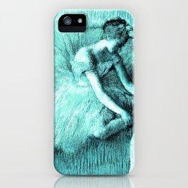 The Dancer by Edgar Degas Aqua iPhone Case