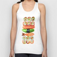 sushi Tank Tops featuring Sushi by Sam Luotonen