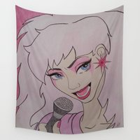jem Wall Tapestries featuring Jem and the Holograms  by DustyRoseArt