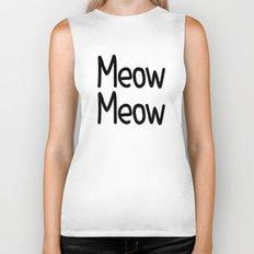 Meow Meow Biker Tank