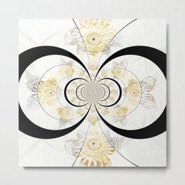 Apleph Fractal Mandala Metal Print