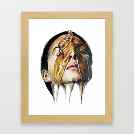 Watercolor Painting of Monica Bellucci La Manna Framed Art Print