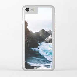 ocean falaise Clear iPhone Case