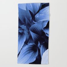 Blue Foliage Beach Towel
