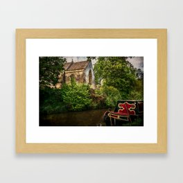 Church By The Oxford Canal Framed Art Print