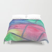 tie dye Duvet Covers featuring Tie dye by Bridget Davidson
