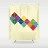 diamonds Shower Curtains featuring Diamonds by Losal Jsk