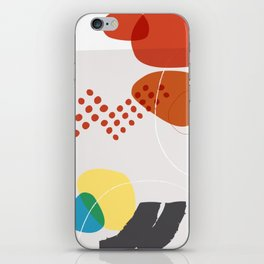 Shape & Hue Series No. 3 – Yellow, Orange & Blue Modern Abstract iPhone Skin