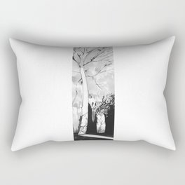 Abstract Autumn Drawing Rectangular Pillow