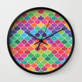 Watercolor Lovely Pattern VVXVI Wall Clock