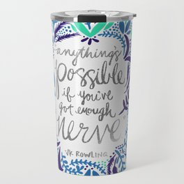 Anything's Possible – Silver & Blue Travel Mug