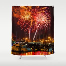 Marina Del Rey Fourth of July Fireworks 1 Shower Curtain