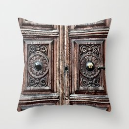 The Door to the Past Throw Pillow