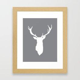 Deer Antlers Framed Art Print