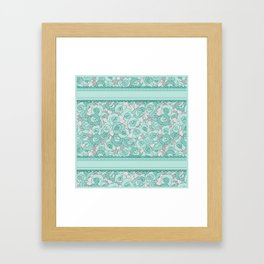 Retro Roses with lace Framed Art Print
