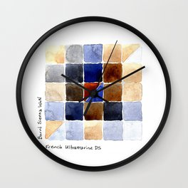 Color Chart - Burnt Sienna (W&N) and French Ultramarine (DS) Wall Clock