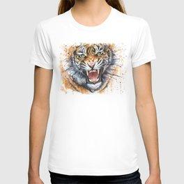 Tiger Roaring Wild Jungle Animal T-shirt