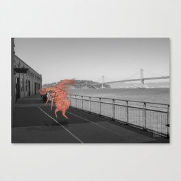 Unseen Monsters of San Francisco - Chazzichad Mowilliams Canvas Print